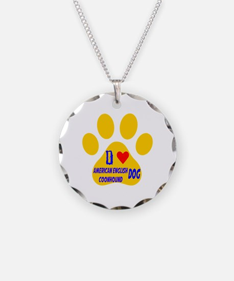 I Love American English Coon Necklace