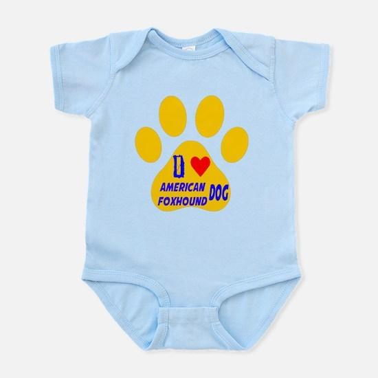 I Love American Foxhound Dog Infant Bodysuit