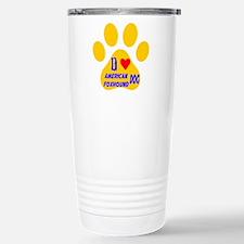 I Love American Foxhoun Stainless Steel Travel Mug
