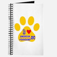 I Love American Foxhound Dog Journal