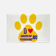 I Love American Foxhoun Rectangle Magnet (10 pack)