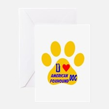 I Love American Foxhound Dog Greeting Card