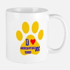 I Love American Pit Bull Terrier Dog Mug