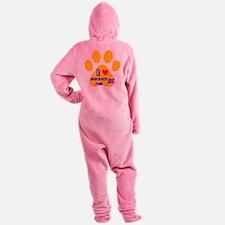 I Love American Water Spaniel Dog Footed Pajamas