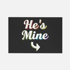 He's Mine - Gay Pride Full Bleed Magnets