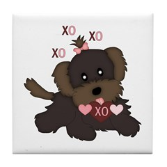 Puppy Kisses Tile Coaster