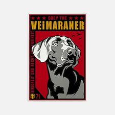 Obey the Weimaraner! Propaganda Magnet