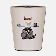 Chef Raccoon Shot Glass
