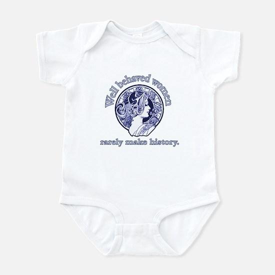 Artistic Well Behaved Women Infant Bodysuit