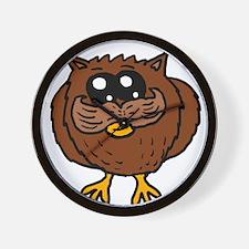 Mustache Owl Wall Clock