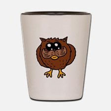 Mustache Owl Shot Glass
