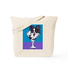 Papillon, White & Black Tote Bag