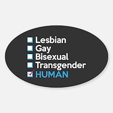 I'm Human - Gay Pride Full Bleed Decal