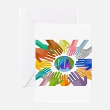 NA HANDS Greeting Cards