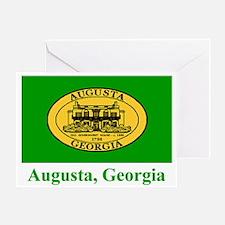 Augusta GA Flag Greeting Card