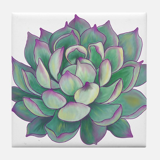 Succulent plant Tile Coaster