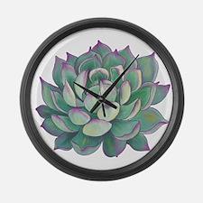 Succulent plant Large Wall Clock