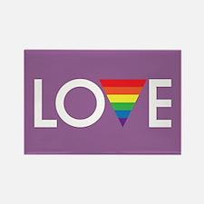 LOVE - Gay Pride Full Bleed Magnets