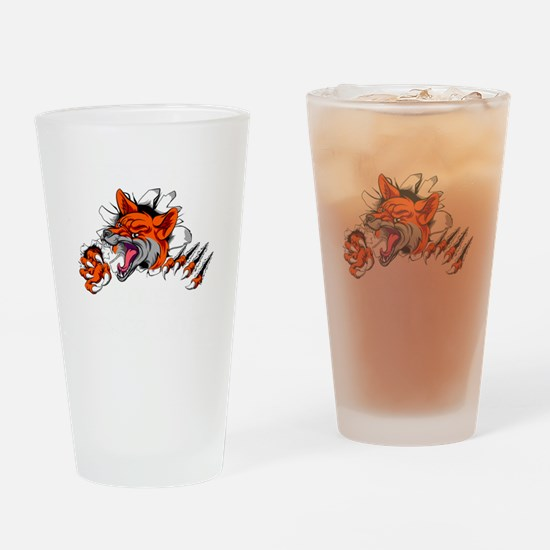 Funny Fox city Drinking Glass