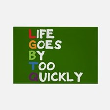 LGBTQ - Life Goes By Too Quickly Full Bleed Magnet