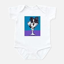 Papillon, White & Black Infant Bodysuit