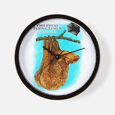 Philippine Flying Lemur Wall Clock