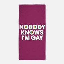 Nobody Knows I'm Gay Full Bleed Beach Towel