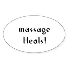 massage Heals! Oval Decal