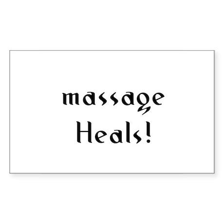 massage Heals! Rectangle Sticker