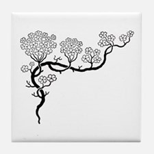 """Dogwood"" Tile Coaster"