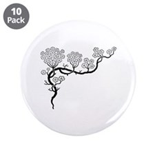 """""""Dogwood"""" 3.5"""" Button (10 pack)"""