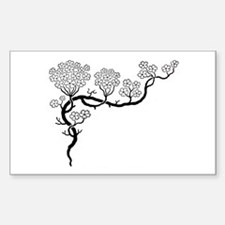 """Dogwood"" Rectangle Decal"