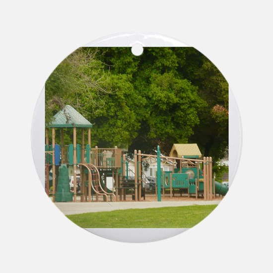 Cute Playground Round Ornament