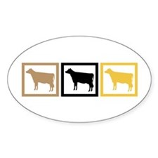 Cow Squares Decal