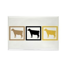 Cow Squares Rectangle Magnet