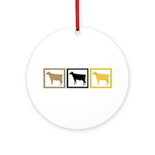Cow Squares Ornament (Round)