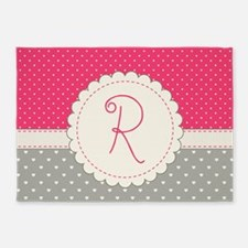 Cute Monogram Letter R 5'x7'Area Rug