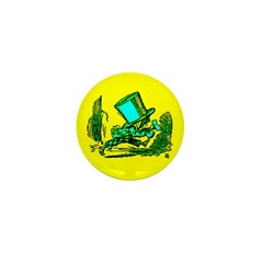 Mad Hatter Running Mini Button (10 pack)