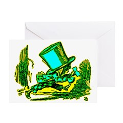 Mad Hatter Running Greeting Card