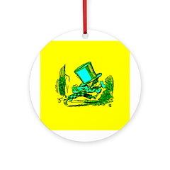 Mad Hatter Running Ornament (Round)