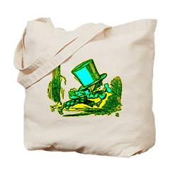 Mad Hatter Running Tote Bag