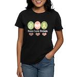 Peace Love Yellow Ribbon Women's Dark T-Shirt