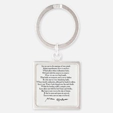 Cute Marriage Square Keychain