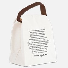 Cute Poetry Canvas Lunch Bag