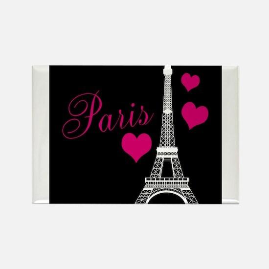 Paris Eiffel Tower in Black Magnets