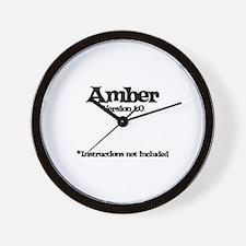 Amber Version 1.0 Wall Clock