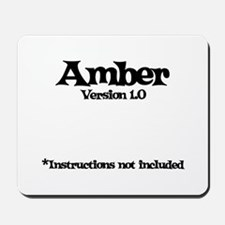 Amber Version 1.0 Mousepad