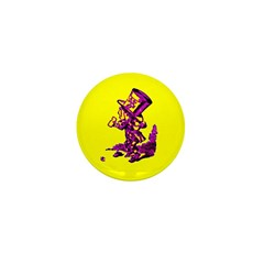 Mad Hatter Mini Button (10 pack)