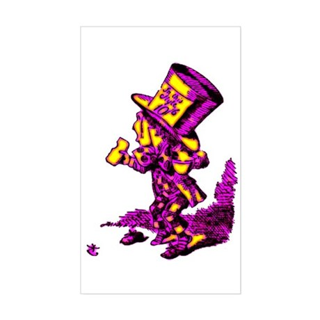 Mad Hatter Rectangle Sticker