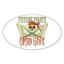 Captain Hawk Oval Decal